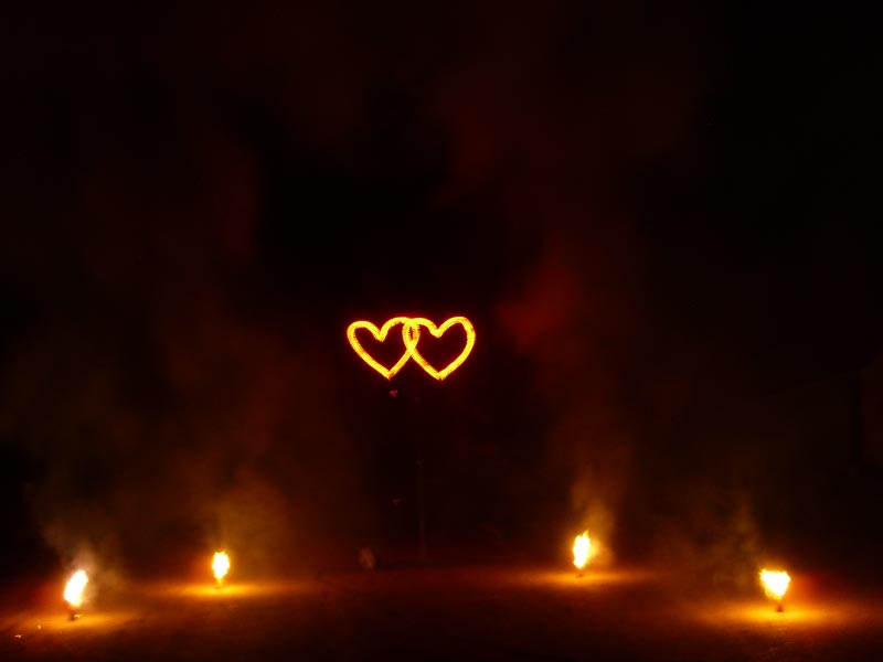 Herz-Effekt-Feuerwerk